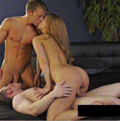 Two guys on girl sex prototype