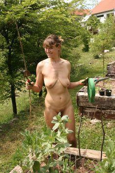 The garden in nude Found mom